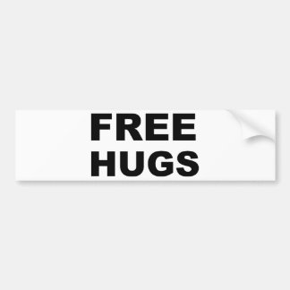 FREE HUGS BUMPER STICKER