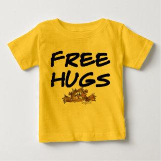 Free Hugs Cartoon Hamster Baby T Shirt