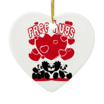 Free_Hugs Ceramic Ornament