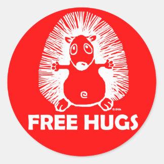 Free hugs classic round sticker