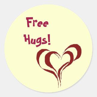 Free Hugs! Classic Round Sticker