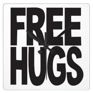 FREE HUGS CLOCKS