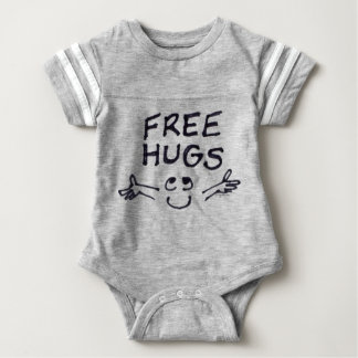 Free Hugs Cute Cartoon Baby Baby Bodysuit