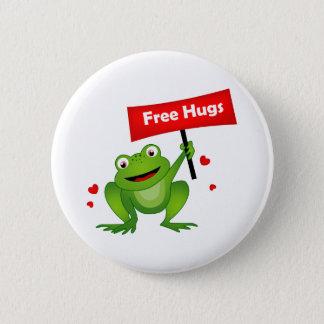 free hugs cute frog pinback button