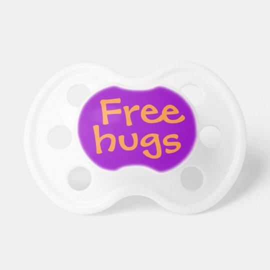 Free Hugs Funny Baby Pacifier Dummy Binkie