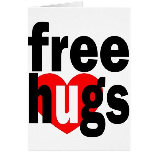 free hugs heart greeting cards