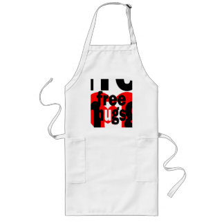 free hugs heart long apron