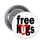 free hugs heart pin