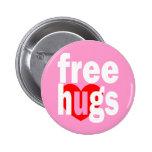 free hugs heart pinback button