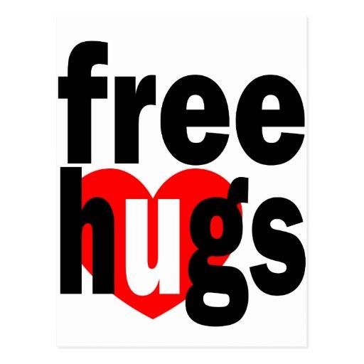 free hugs heart postcard