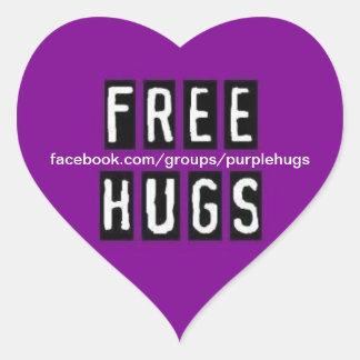 FREE HUGS HEART STICKER