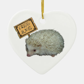 Free Hugs Hedgehog Ceramic Ornament