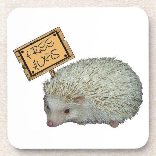 Free Hugs Hedgehog Coaster