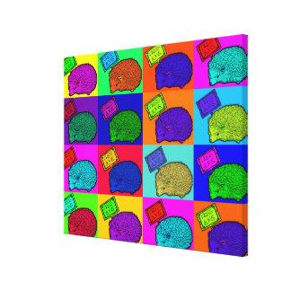 Free Hugs Hedgehog Colorful Pop Art Popart Canvas Print