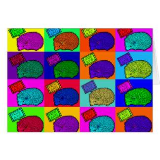 Free Hugs Hedgehog Colorful Pop Art Popart Card