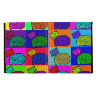 Free Hugs Hedgehog Colorful Pop Art Popart iPad Folio Cases