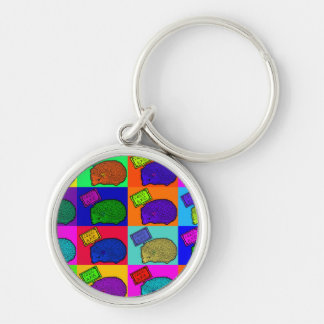 Free Hugs Hedgehog Colorful Pop Art Popart Keychain