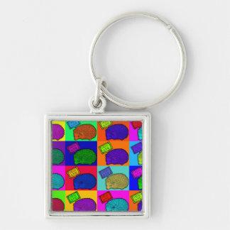 Free Hugs Hedgehog Colorful Pop Art Popart Key Chain