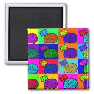 Free Hugs Hedgehog Colorful Pop Art Popart Fridge Magnets