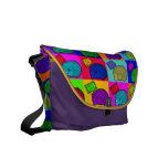 Free Hugs Hedgehog Colorful Pop Art Popart Messenger Bag