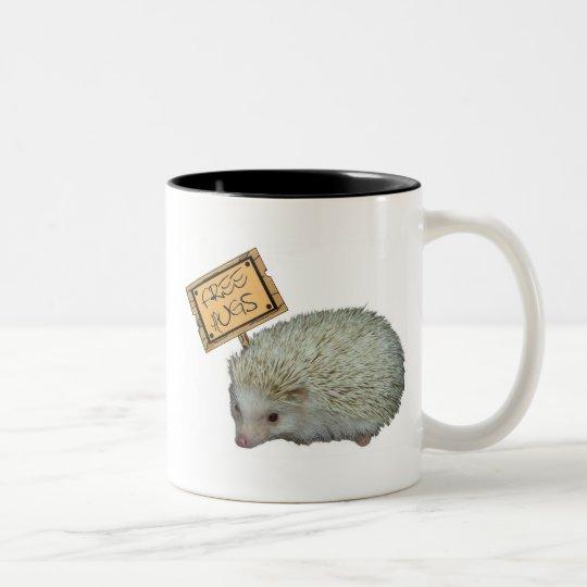 Free Hugs Hedgehog Two-Tone Coffee Mug