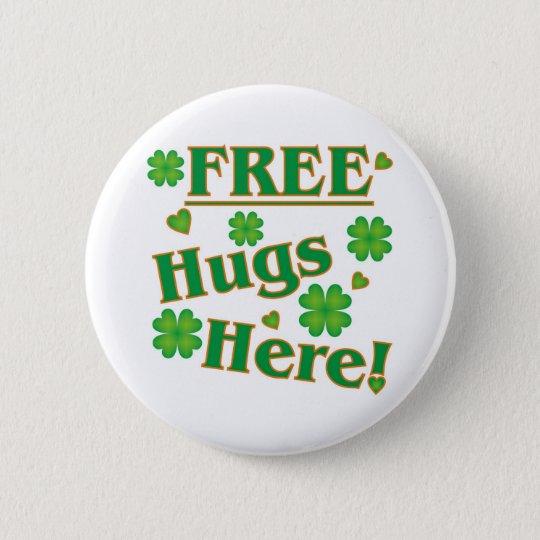 Free Hugs Here! Pinback Button