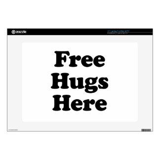 """Free Hugs Here Skins For 15"""" Laptops"""