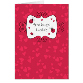 Free Hugs Inside Greeting Cards