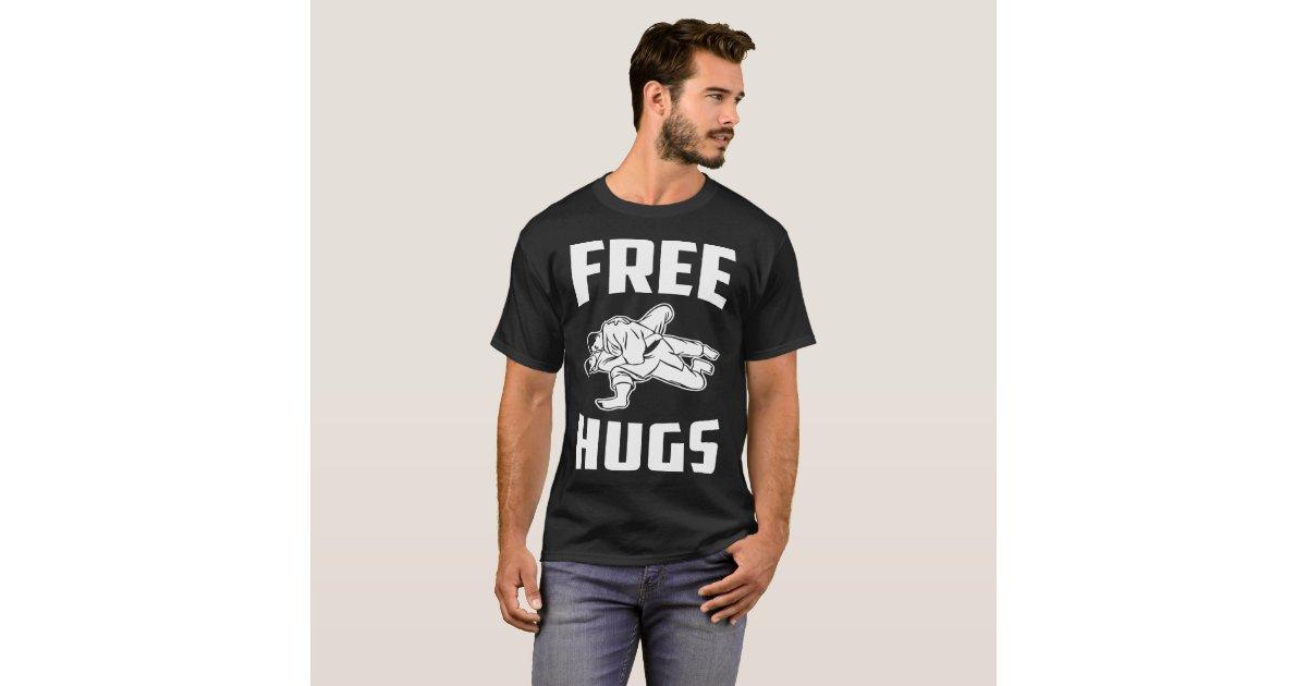 Free Hugs Jiu Jitsu BJJ Gift Gift Tee