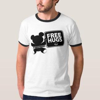 Free Hugs Logo Ringer Shirt - Mens