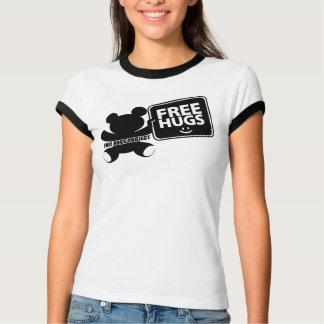 Free Hugs Logo Ringer Shirt - Women's