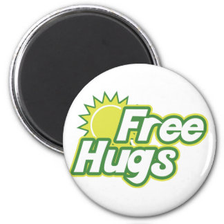 Free Hugs Novelty 2 Inch Round Magnet