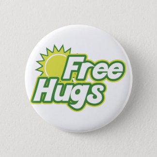 Free Hugs Novelty Pinback Button