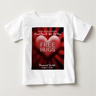 FREE HUGS - Peace & Love Baby T-Shirt