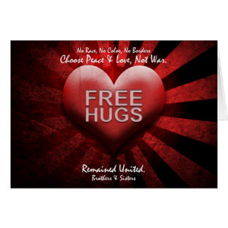 FREE HUGS - Peace & Love Card