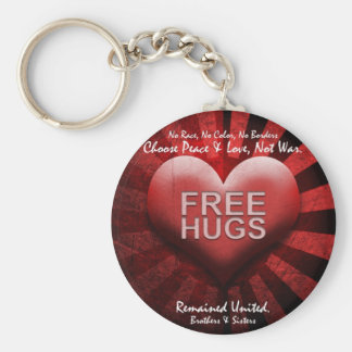 FREE HUGS - Peace & Love Keychain