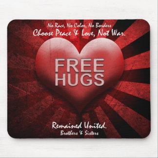 FREE HUGS - Peace & Love Mouse Pad