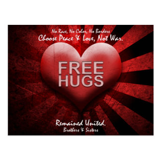 FREE HUGS - Peace & Love Postcard