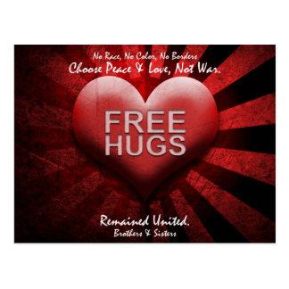 FREE HUGS - Peace & Love Postcard