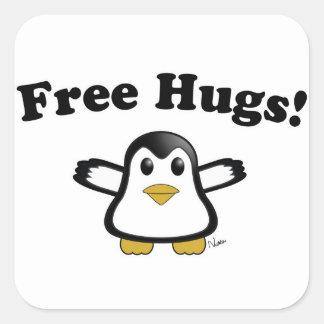 Free Hugs Penguin Stickers