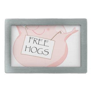 Free Hugs Pig Belt Buckle