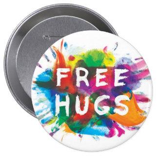 FREE HUGS! PINBACK BUTTON