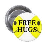 , FREE, HUGS PINBACK BUTTONS