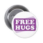 Free Hugs - Purple Pinback Button