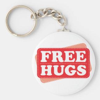 Free Hugs - Red Basic Round Button Keychain