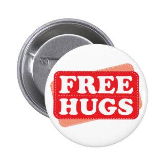 Free Hugs - Red Pinback Button