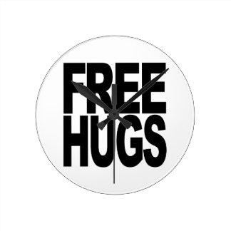 Free Hugs Round Clock