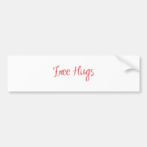 free-hugs-sexy-red.png bumper stickers