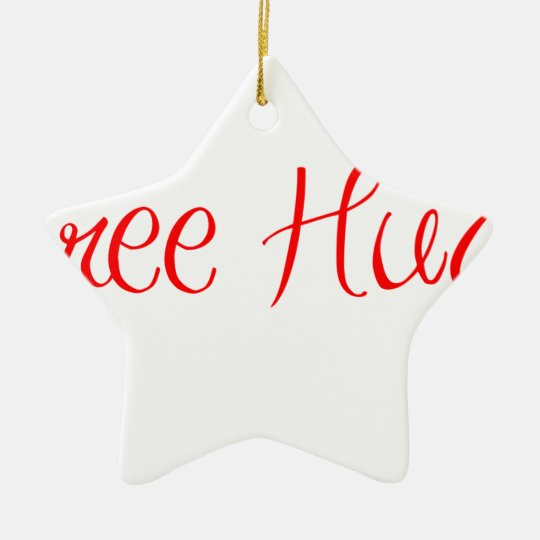 free-hugs-sexy-red.png ceramic ornament