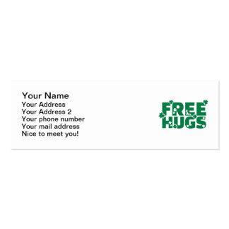 Free hugs shamrocks business card templates
